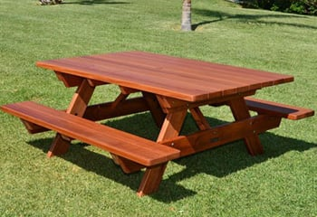 forever picnic tables attached benches - Picnic Table Kit