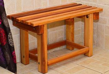 Patyu0027s Wooden Shower Bench