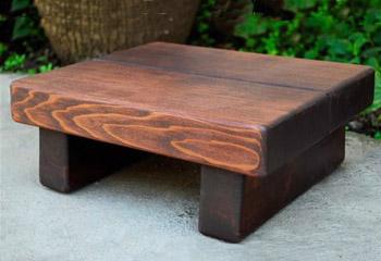 tiny wood foot stool