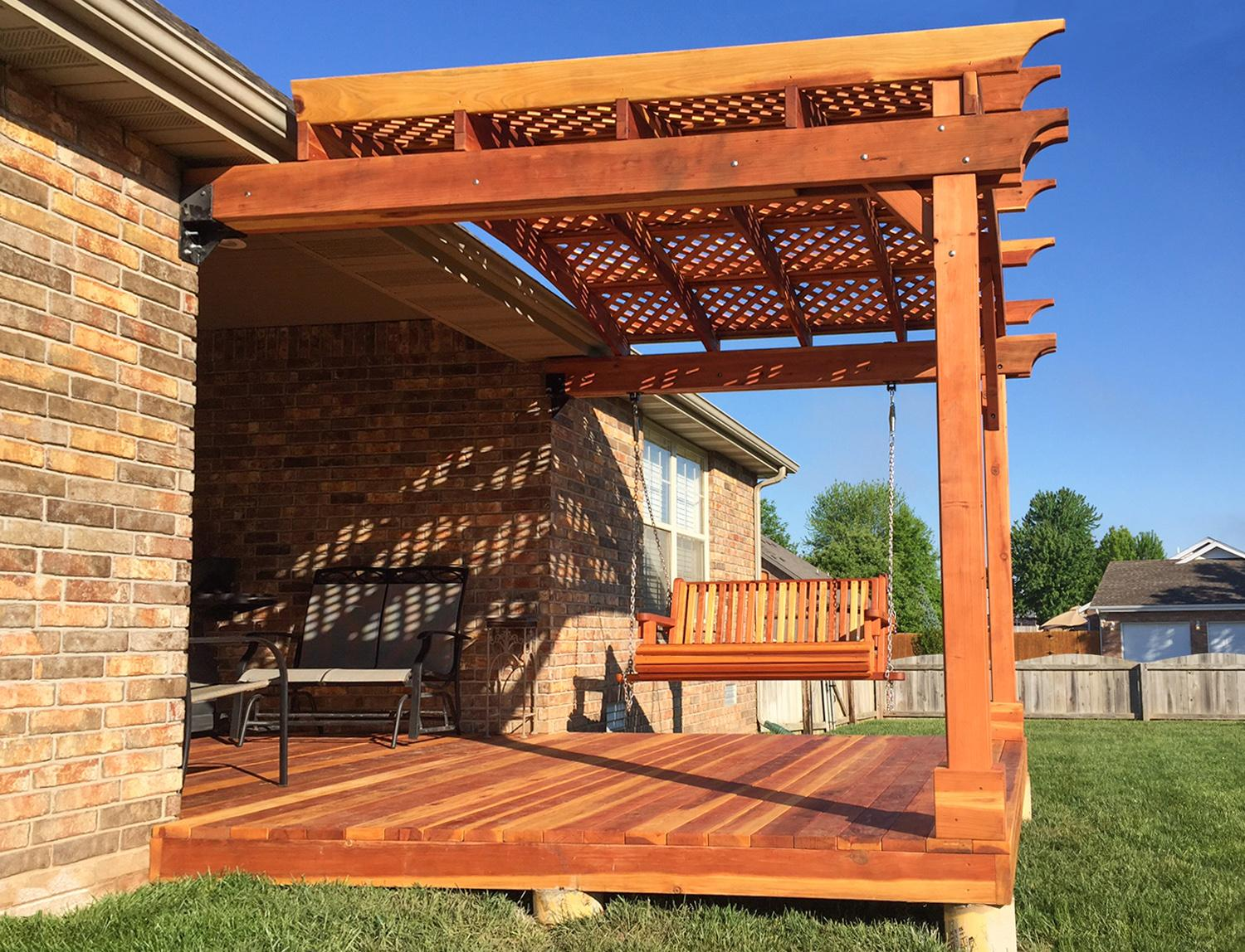 The pros and cons of purchasing a prefab pergola kit vs for Build your own pergola