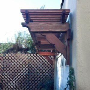 redwood garage arbor kit trellis