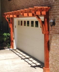 Attached Redwood Arbor Kit That Perfectly Complements Your