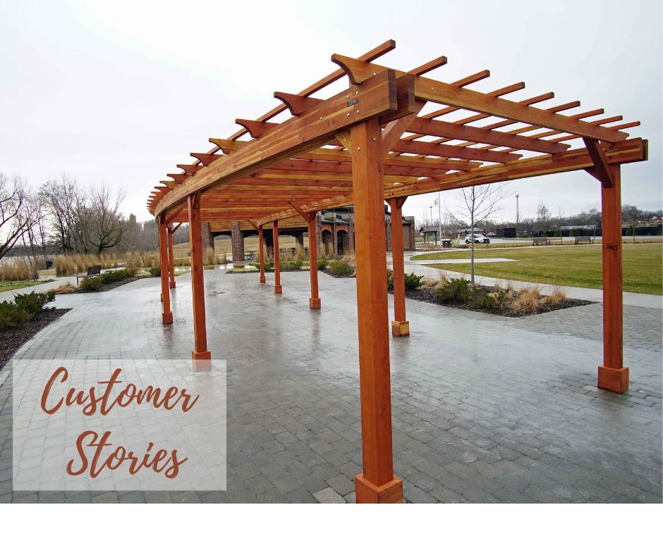 BEAUTIFUL SYNERGY: PERGOLA'S DESIGN INTEGRATES NATURE, PEOPLE, AND HISTORY