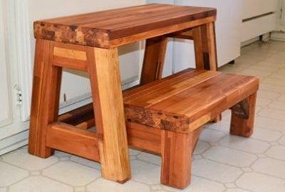2-Step Wood Stool