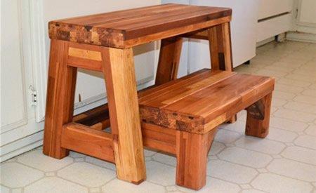 2-Step Wood Stool