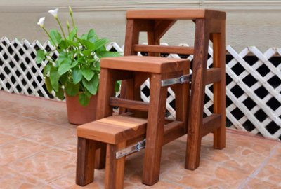 3-Step Wood Stool