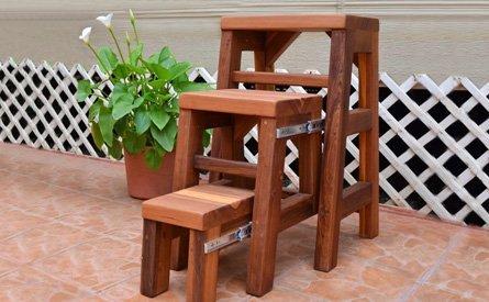 3-Step Wood Stool