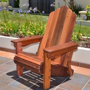 Adirondack Folding Chair (Options: Old-Growth Redwood, No Cushions, No Ottoman, Transparent Premium Sealant).