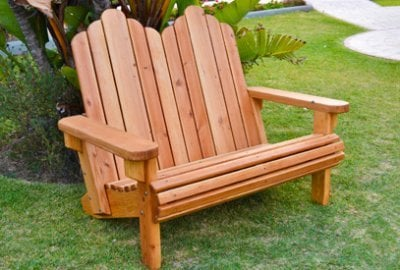 Adirondack Wooden Loveseat