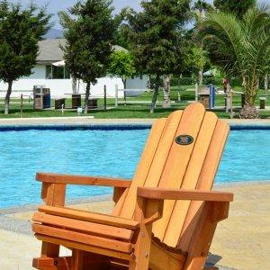 Adirondack Rocking Chair (Options: Standard Width, Douglas-fir, No Cushion, No Ottoman, Transparent Premium Sealant).