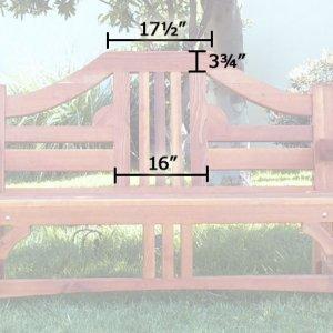 Alan's Bench (Options: 5 ft, California Redwood, No Cushion, No Engraving, Transparent Premium Sealant).