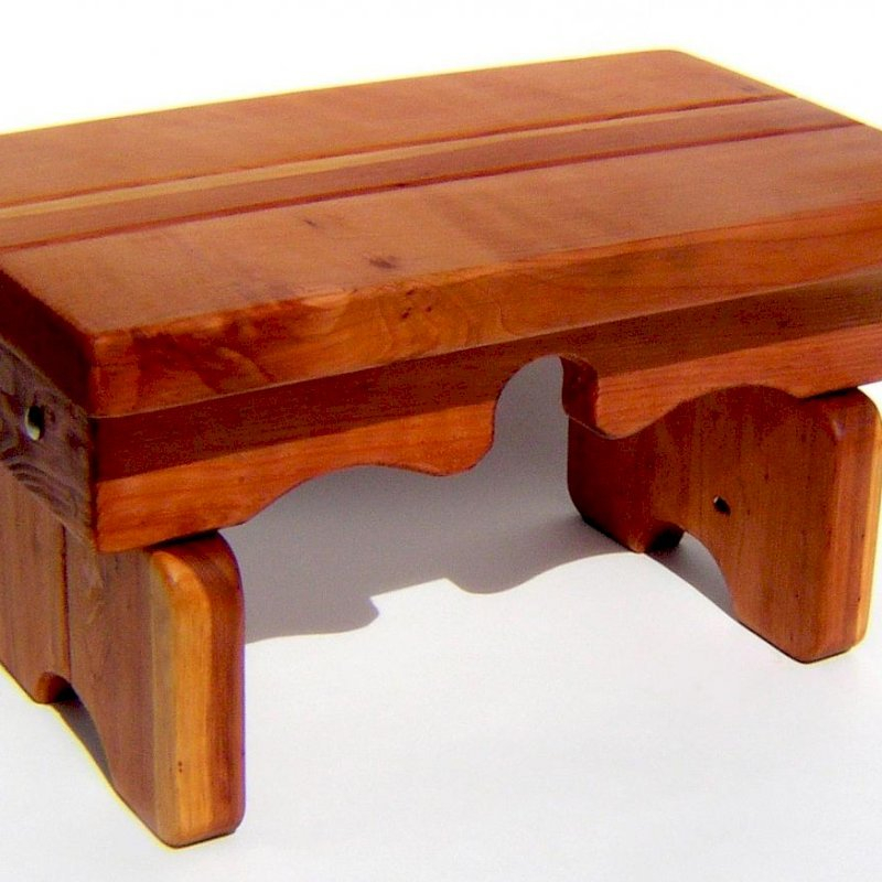 "Angel's Side Table (Options: 36"" L, 14"" W, California Redwood, 14"" H, Transparent Premium Sealant)."