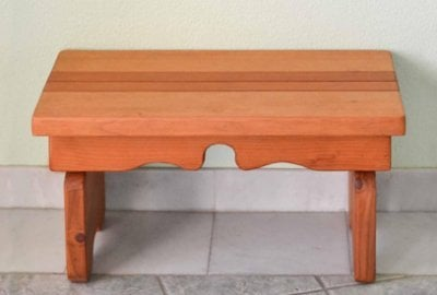 Angel's Natural Redwood Side Table
