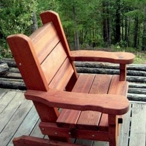 Angel's Chair (Options: Old-Growth Redwood, No Cushion, Transparent Premium Sealant)
