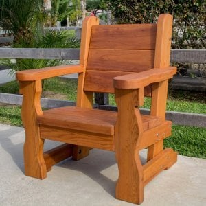 Angel's Chair (Options: Douglas-Fir, No Cushion, Transparent Premium Sealant).