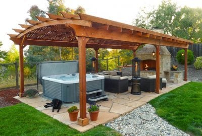 Arched Pergola Kits - Garden Pergola Kits Handcrafted From Redwood Free Shipping