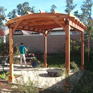 Arched Pergola Kit. Photo Courtesy of Fred Swendson.
