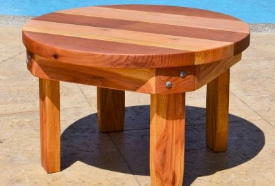 Ashley's Round Small Wood Side Table