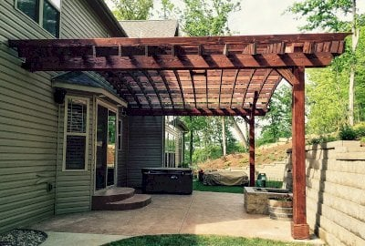 Attached Arched Pergola Kits