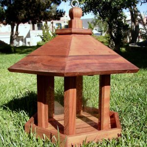 Aviary Oasis Birdfeeder (Options: Old-Growth Redwood, XW Roof Eaves, Transparent Premium Sealant)