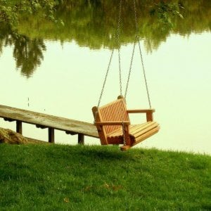Bench Swing (Options: Standard Garden Bench, Mature Redwood, Classic Seat Design, No Engraving, All Tree Hanging Hardware, Transparent Premium Sealant).