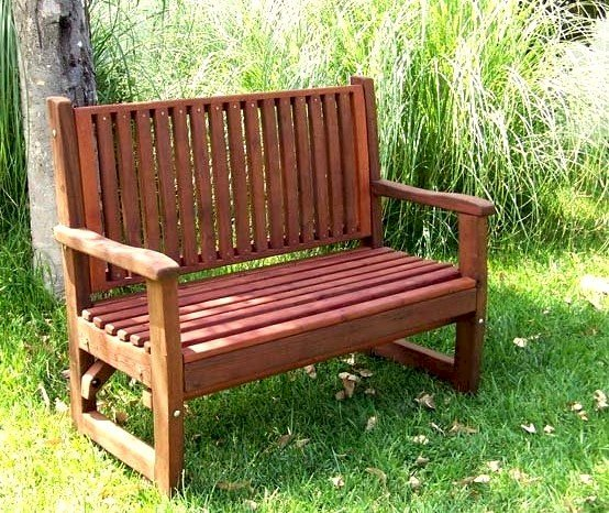 Bonsignour Bench (Options: 4 ft, Mature Redwood, No Cushion, No Engraving, Transparent Premium Sealant).