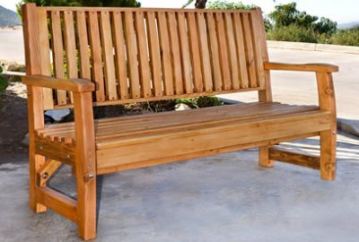Bonsignour Handcrafted Wood Bench