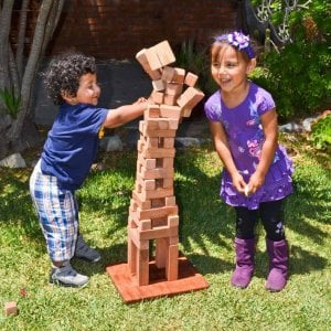 Kid's Building Block Set (Options: 72 Blocks, Include Wooden Box, Mature Redwood, Custom Engraving).
