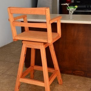 "Captain's Bar Stool (Options: Douglas-fir, Swivel Seat, 31"" H, No Cushion, Transparent Premium Sealant)"