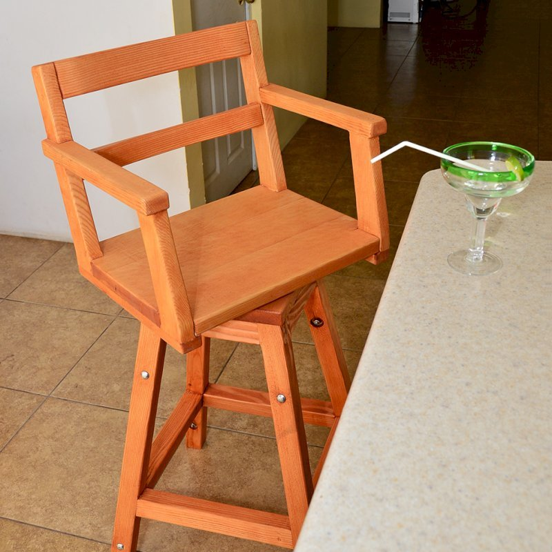"Captain's Bar Stool (Options: Douglas-fir, Swivel Seat, 31"" H, No Cushion, Transparent Premium Sealant)"