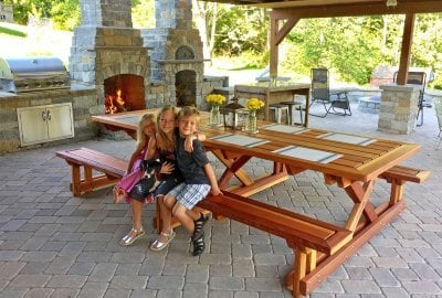 Chris's Picnic Table (Attached Benches)