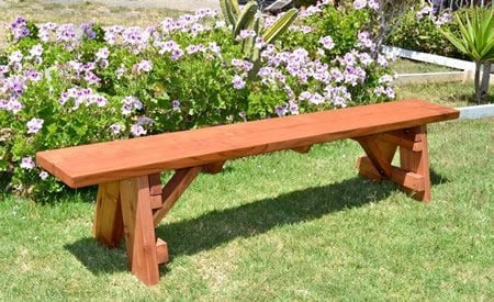 Classic Wooden Picnic Bench
