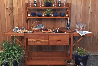 Eli's Redwood Potting Bench