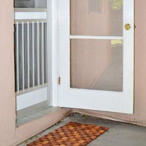 Flexible Wood Floor Mat (Options: 2.5' L, 1.5' W, Redwood, Transparent Premium Sealant).