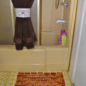 Flexible Wood Floor Mat (Options: 2' L, 1' W, Redwood, Transparent Premium Sealant).