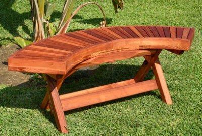 Folding Arc Wood Bench