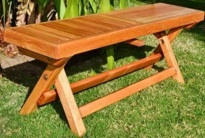 Folding Outdoor Wood Bench