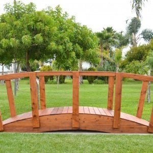 Forever Foot Bridge (Options: 12' L, Mature Redwood, Transparent Premium Sealant).