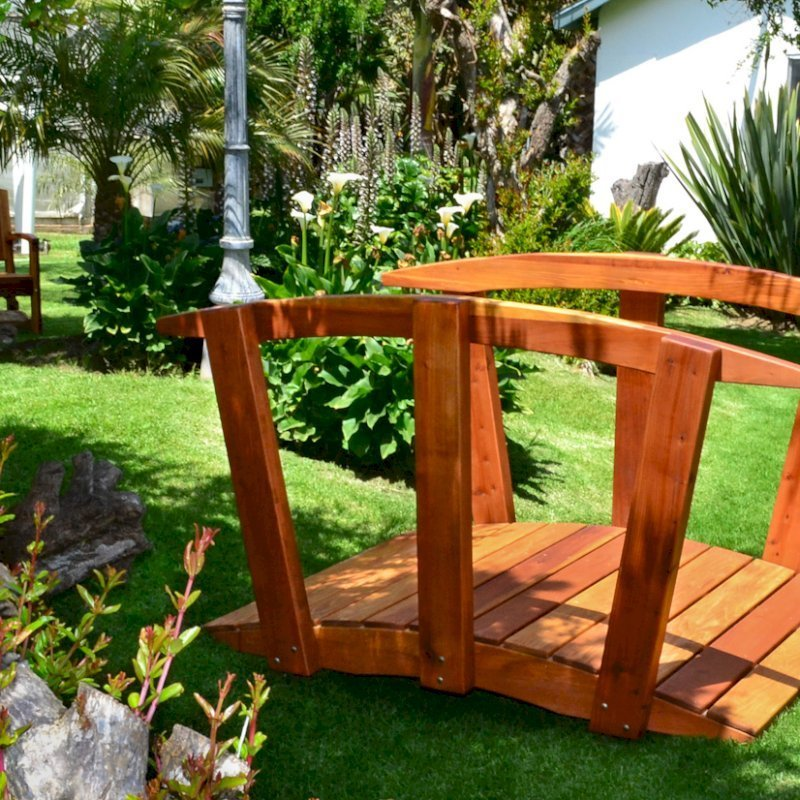 Forever Foot Bridge (Options: 6' L, Mature Redwood, Transparent Premium Sealant).