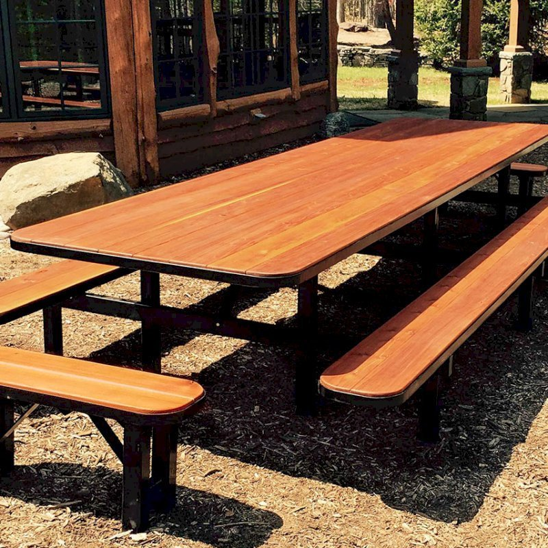 Incredible Redwood Picnic Table Customize Your Redwood Table Beatyapartments Chair Design Images Beatyapartmentscom