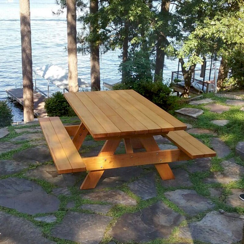 Terrific Redwood Picnic Table Customize Your Redwood Table Bralicious Painted Fabric Chair Ideas Braliciousco