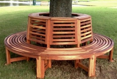 Forever Wood Tree Bench