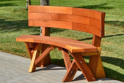 Fullback Arc Wood Picnic Bench