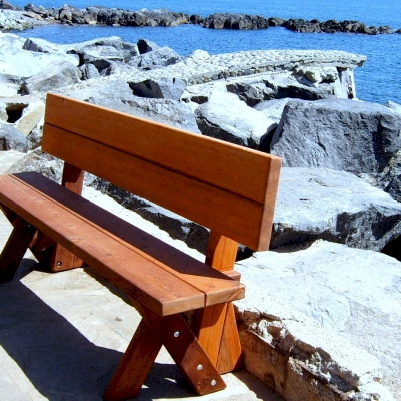 Fullback Bench (Options: 6 ft, Old-Growth Redwood, No Cushion, No Engraving, Transparent Premium Sealant).