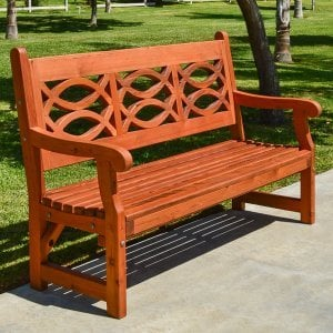 Hennell Bench (Options: 5 ft, Old-Growth Redwood, No Cushion, No Engraving, Transparent Premium Sealant).