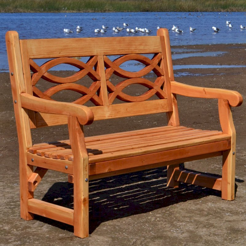 Awesome Redwood Garden Bench With English Design Forever Redwood Pdpeps Interior Chair Design Pdpepsorg