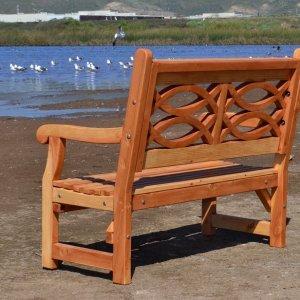 Hennell Bench (Options: 4 ft, Douglas-fir, No Cushion, No Engraving, Transparent Premium Sealant).