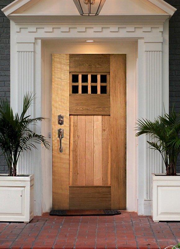 """Heritage Door (Options: 8' H, 48"""" W, Transparent Premium Sealant)."""