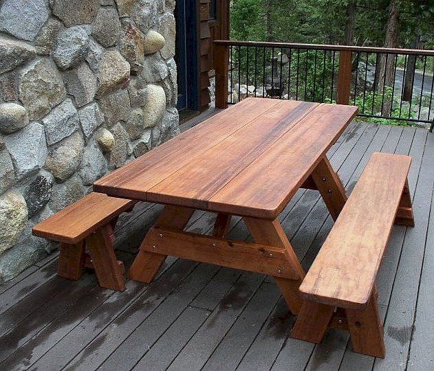 Peachy Large Wooden Picnic Table Custom Wood Picnic Table Kit Ibusinesslaw Wood Chair Design Ideas Ibusinesslaworg