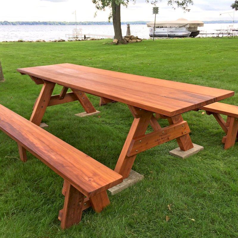 Peachy Large Wooden Picnic Table Custom Wood Picnic Table Kit Spiritservingveterans Wood Chair Design Ideas Spiritservingveteransorg